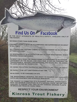 Rules at Kinross Trout Fishery - Fishery Rules Scotland