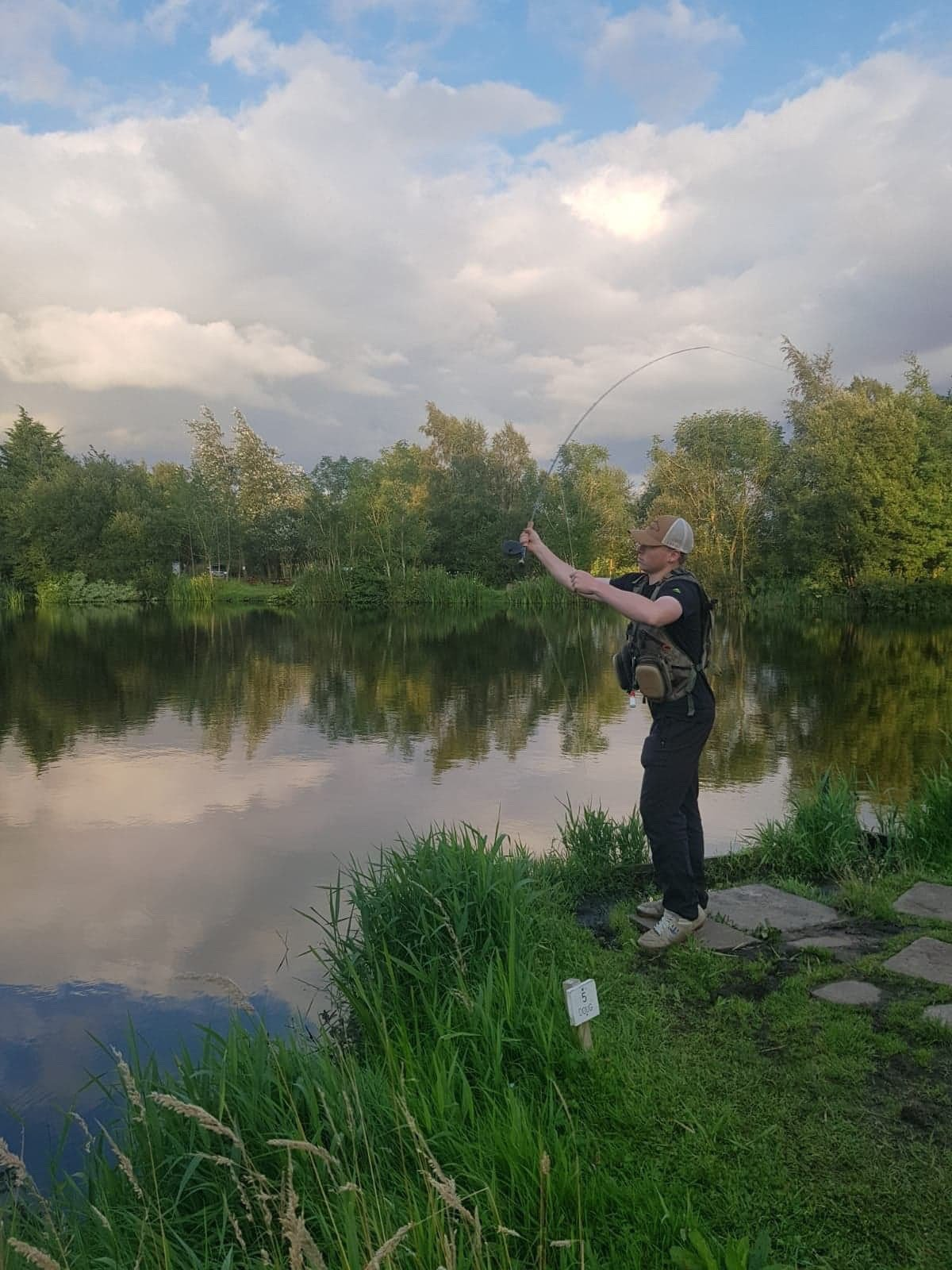Ewan Angus - Fishing at Kinross Trout Fishery