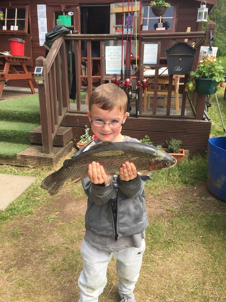 family fishing at kinross trout fishery things to do kids perthshirer