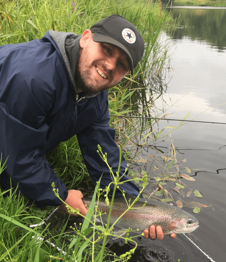 David Smith catching at Kinross Trout Fishery | Big Fish | Family Fishing | Scotland | Perthshire Rainbow Trout